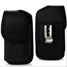 "Black Rugged Nylon Pouch Belt Clip For IPhone 6 Plus 5.5"" w/ Heavy Duty Case On"