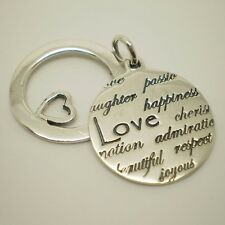 "925 Sterling Silver Message ""LOVE Cheris..........."" Pendant Charm A-36P"