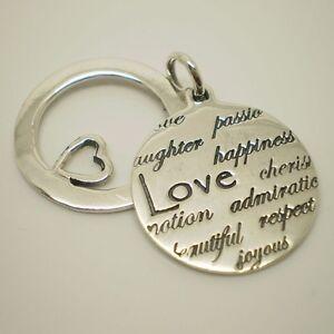"925 Sterling Silver Message ""LOVE Cheris..........."" Pendant Charm A-36P"
