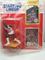 1990 ISIAH THOMAS Detroit Pistons #11 Starting Lineup + 1981 card
