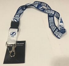 NHL Tampa Bay Lightning Team Lanyard w/ Safety Pull Away by WinCraft Sports NWT