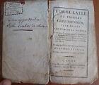 Ancien livre religieux, Formulaire de prières chrétiennes, religieuses Ursulines