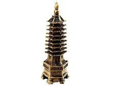 Pagoda Wen Chang de nueve niveles decoración tradicional Feng Shui 14cm