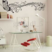 Removable Music Notes Butterfly Wall Sticker Vinyl Art Decal Bedroom Home Decor