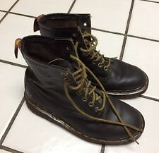 Dr Martens Doc 8 Eye Brown Leather Boots 1460 UK 5 US 6 Mens 7 Women's ENGLAND