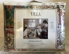 NOBLE EXCELLENCE VILLA SOMMERSET KING QUILT MINI SET $379.99 TAG NEW!