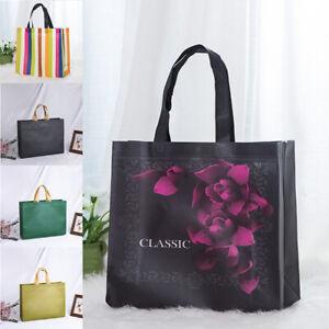 Large Foldable Shopping Bag Handbag Reusable Eco Tote Waterproof Non-woven Pouch