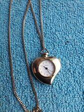 Vintage montre Shivas femme cœur pendentif quartz chaîne fonctionne Watch