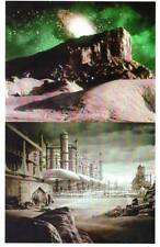 Two 1966 STAR TREK pilot matte scenes - 8x10 color photos