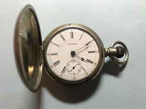 Vintage 1907 Waltham Pocket Watch in Oresilver case Size 18s 17 Jewels Bartlett