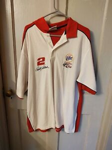 Rusty Wallace #2 Miller Lite Polo Shirt XL New w/Tags