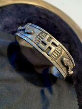 Vintage Navajo Sterling Silver Whirling Logs and Snakes Bracelet
