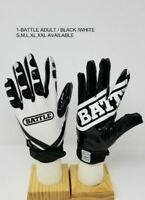 Battle Ultra-Stick Football Receivers Gloves Black and white Adult and Youth