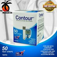 Bayer Contour Blood Glucose Diabetic Test Strips - 50 Count - EXP 11/30/20