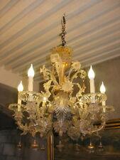 Superbe lustre murano en parfait état et entièrement révisé , 6 branches