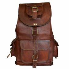 New Large For Men's and Women's.  Genuine Leather Back Pack Rucksack Travel Bag