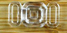 Bikini Verschluss  Transparent 8-9 mm Trägerbandbreite