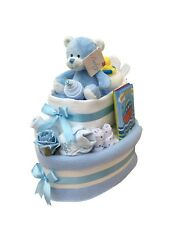 TUG BOAT BLUE NAPPY CAKE, BABY GIFT, BABY SHOWER - FREE POSTAGE!!