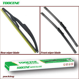 Front and Rear Windshield Wiper blades for Smart Fortwo 2007-2015 flat wiper