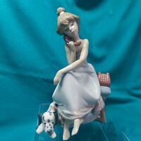 Vintage  Lladro 5466 Chit-Chat Mint Condition! Great Gift! L@@K!