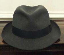 EXTRA Large Vintage Grigio feltro di pelo Borsalino Fedora Cappello c9bab788ce47