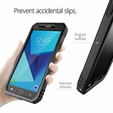 [10pcs/lot] Galaxy J7 2017 Case,Protective Hybrid Rugged Shockproof Cover Black