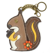 Chala Squirrel Whimsical Inspired Key Chain Coin Purse Leather Bag Fob Charm