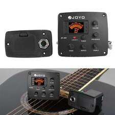 New JOYO JE-305 Acoustic Guitar 4 Bands Preamp EQ Piezo Pickup Equalizer Tuner