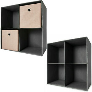 4 Cube Storage Shelf Rack Bookcase Cabinet Organizer Bookshelf Book Display Unit