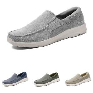 Mens Slip On Pumps Breathable Walking Casual Mules Shoes Canvas Loafers Flats Sz