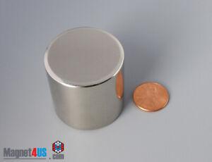 "38x 38mm 1 1/2""x1 1/2"" N45 Super Strong Rare Earth Neodymium Cylinder Magnet"