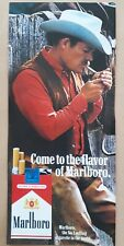 Vintage 1982 Print Advert MARLBORO CIGARETTES 23.5cm by 10.5cm, Tobacciana