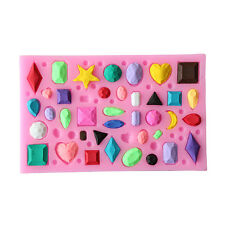 New 3D Silicone Mold Mould Gem Collection Flexible For Chocolate Soap Candy