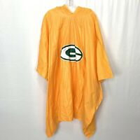 Green Bay Packers Lightweight Rain Poncho Snap Sides One Size 52x80