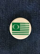 Vintage Pinback GREENPEACE FLAG Button Conservation Pin Environmental USA Made