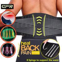 Medical Lumbar Support Lower Waist Back Belt Brace Pain Relief For Men Women OBS