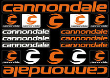 Cannondale Bicycle Frame Decals Stickers Graphic Adhesive Set Vinyl Orange