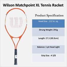 WILSON Nuovo di Zecca MATCH POINT XL Racchetta Da Tennis Con Custodia Portatile