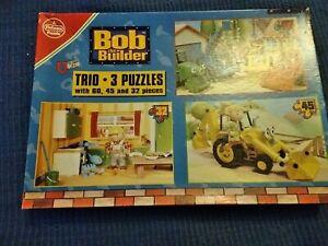 Trio of Bob the Builder Jigsaw Puzzles, 60, 45 & 32 pieces, 38.5 x 24 cm, Falcon