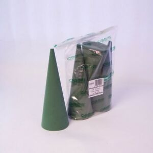 OASIS® Ideal Floral Foam Cone (12 x 32cm ) pack of 3 floral christmas sku 1232B