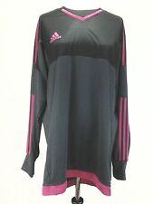 ADIDAS Womens SHIRT Jersey SOCCER GOALIE Gray Pink (REMOVABLE PADS) XL $70
