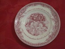 JOHNSON BROTHERS TWAS THE NIGHT BEFORE CHRISTMAS HOLIDAY BUTTER PLATES SET OF 4