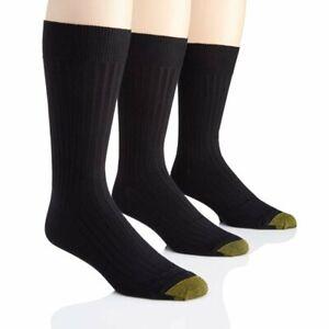 Gold Toe Canterbury Men's 3 Pair Ribbed Crew Socks