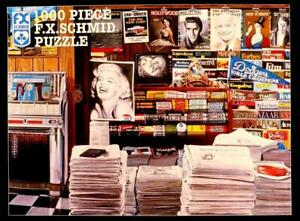 1000 PIECE JIGSAW PUZZLE DECADE OF THE FIFTIES NEWSTAND COMPLETE EXC COND