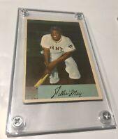 1954 Bowman Willie Mays baseball card #89