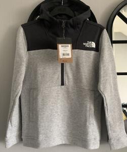 Boys The North Face 1/4 Zip Sweatshirt. New. Grey. Size LB. Age
