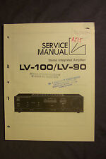 Luxman LV-100  LV-90 Stereo Power Amplifier Service Manual
