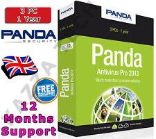 Panda Antivirus Pro 2013 3 Pc del usuario 1 Año! de activación de clave de licencia Anti Virus