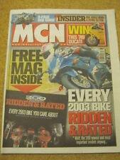 MCN - MOTORCYCLE NEWS - 26 March 2003