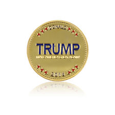Holiday Souvenir Gifts Donald Trump 24k Gold Plated Metal Coin Collections